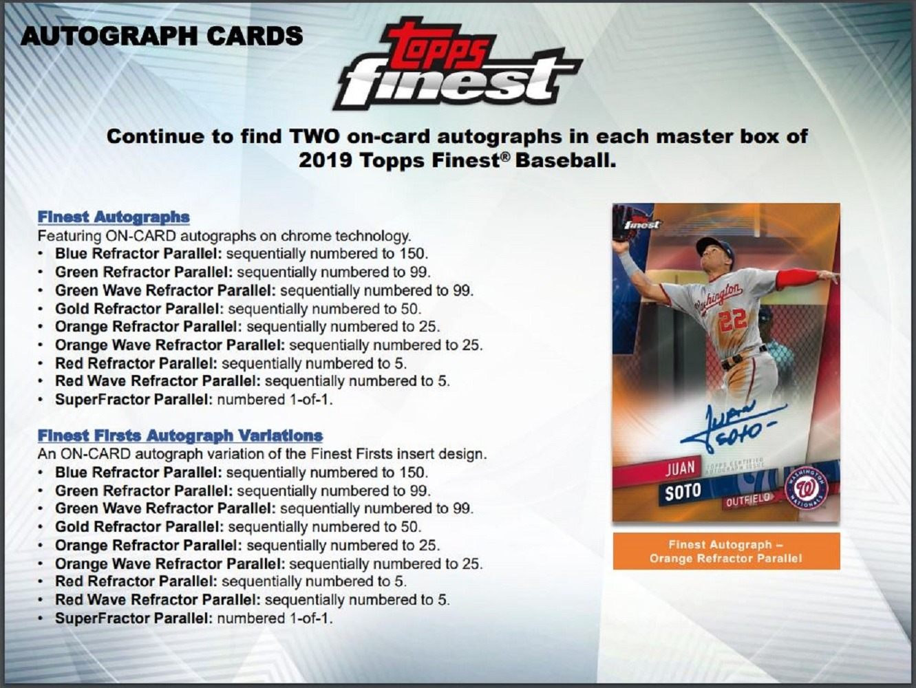 2019 Topps Finest Baseball Factory Sealed Hobby Box