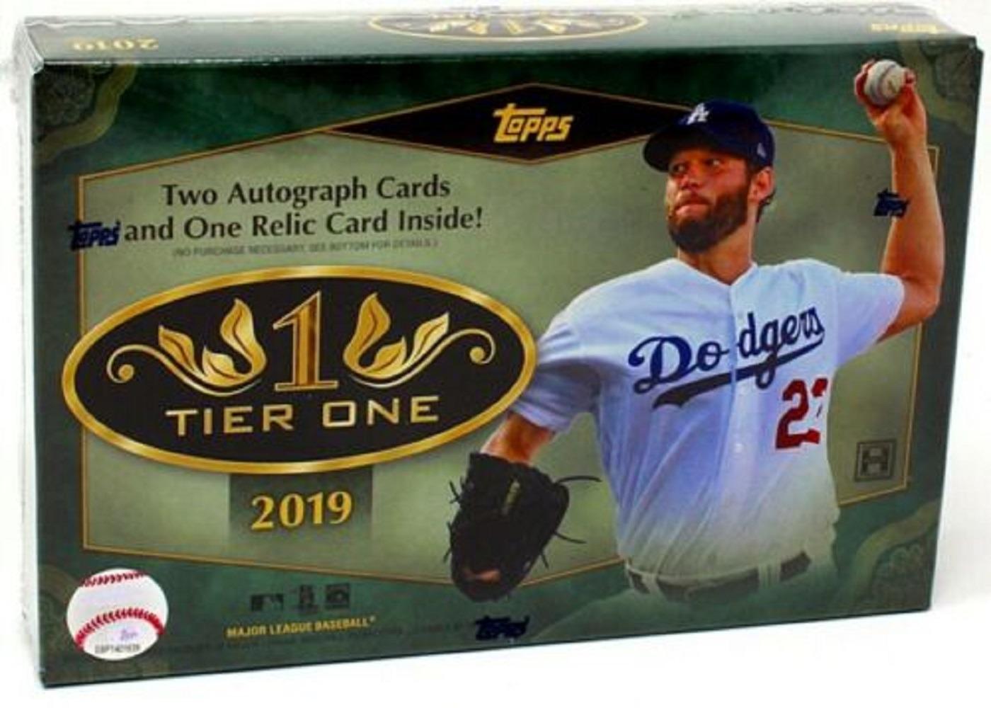 2019 Topps Tier One Baseball Hobby Packbox 3 Cardsfactory Sealed