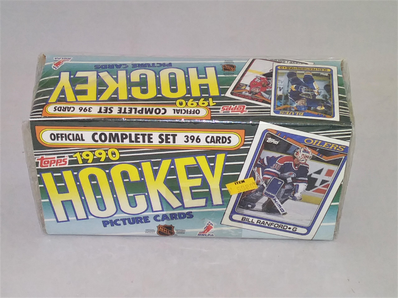 New /& Sealed Offical Complete Set 396 Card Set Topps 1990 Hockey Sport Cards