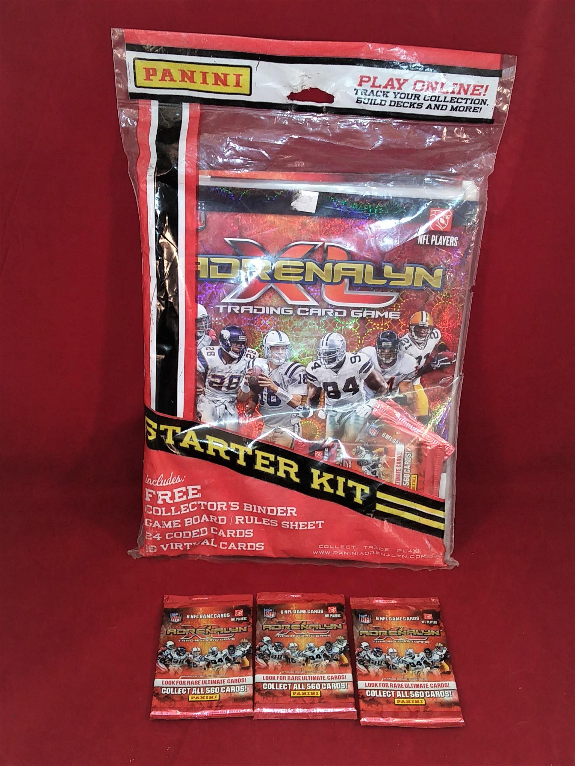 2010 Panini Adrenalyn XL Starter Kit NFL Football Factory Sealed + 3 Packs  NOS