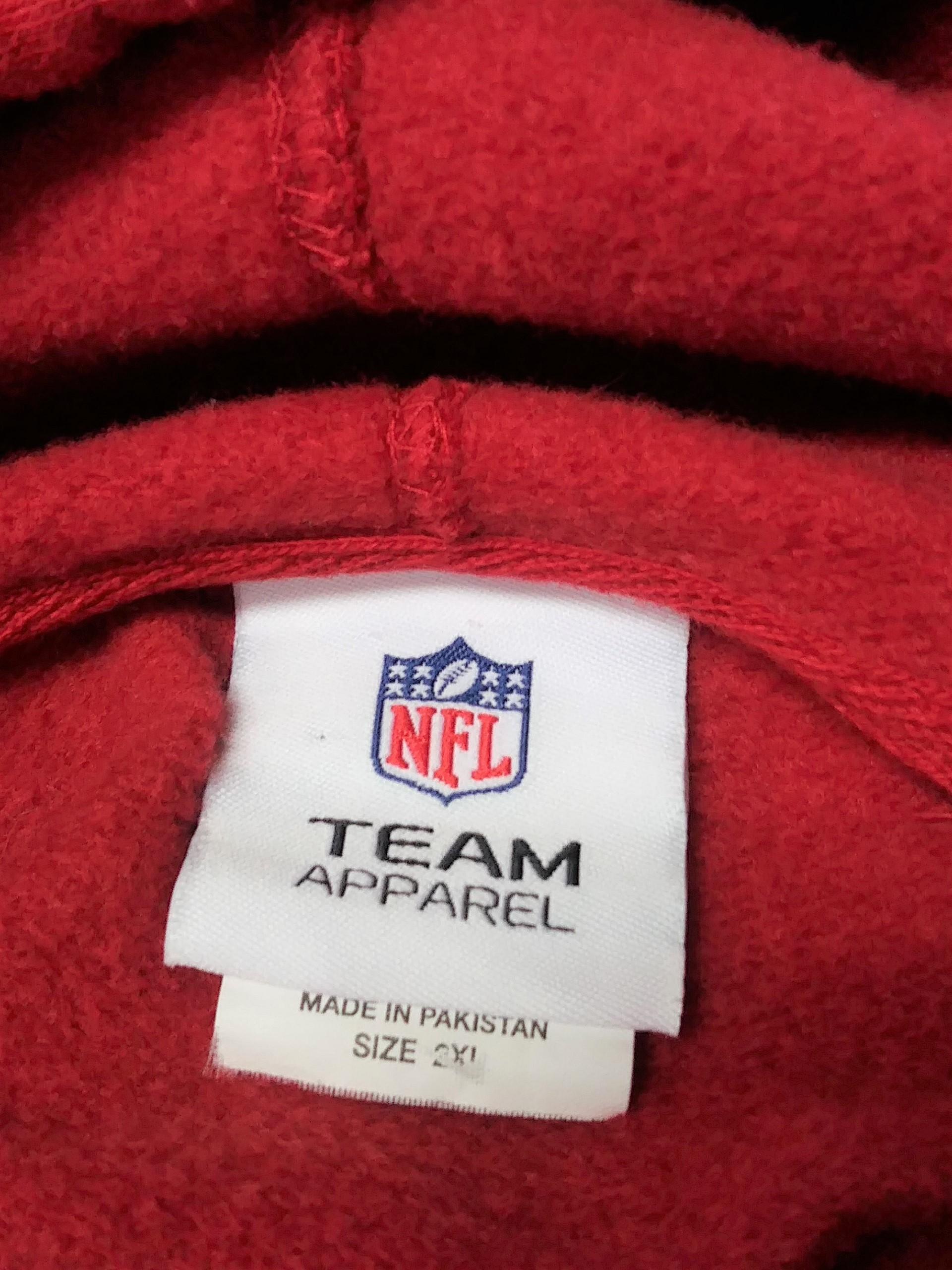 Nice NFL Team Apparel Red Tampa Bay Buccaneers Pullover Hoodie Size 2XL