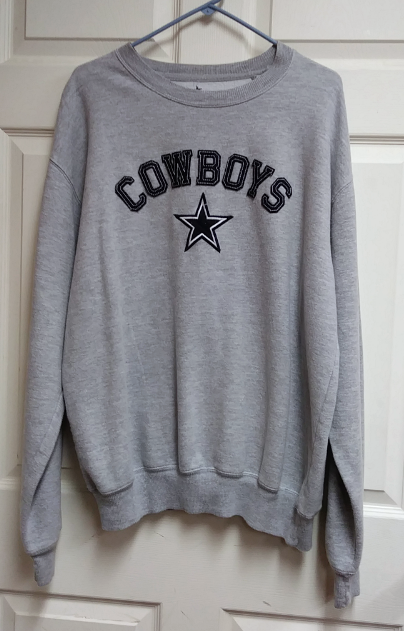 wholesale dealer 053c1 d6922 Authentic Apparel Dallas Cowboys Gray Sweatshirt Men's Size L Football NFL