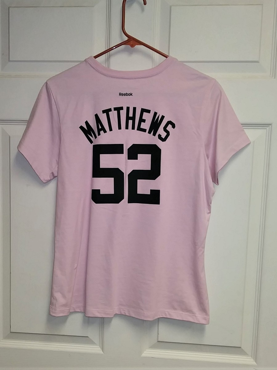 100% authentic 431e5 f532f Reebok RBK Pink Green Bay Packers T-Shirt #52 Clay Matthews Womens Size L