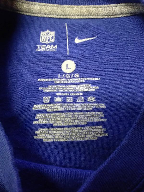 dfe07e698 ... NFL Team Apparel Blue New York Giants Graphic T-Shirt Size L Football  ...