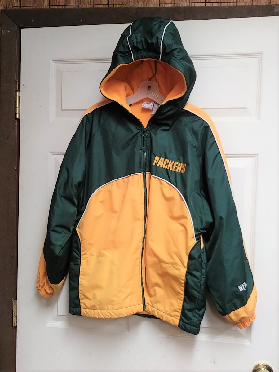the latest 34e34 0adf0 NFL Green Bay Packers Fleece Lined Full Zip Jacket w/ Hood Size XL Football