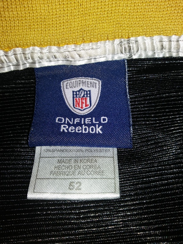 5e0535255 ... Reebok Onfield Ingram  28 Black Gold New Orleans Saints Jersey Shirt Sz  52 NFL ...