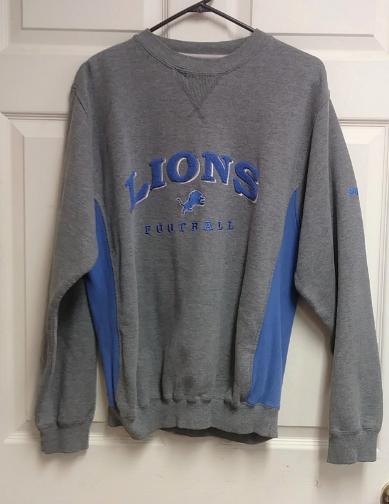 detailed look d50cc af992 nfl lions sweatshirt