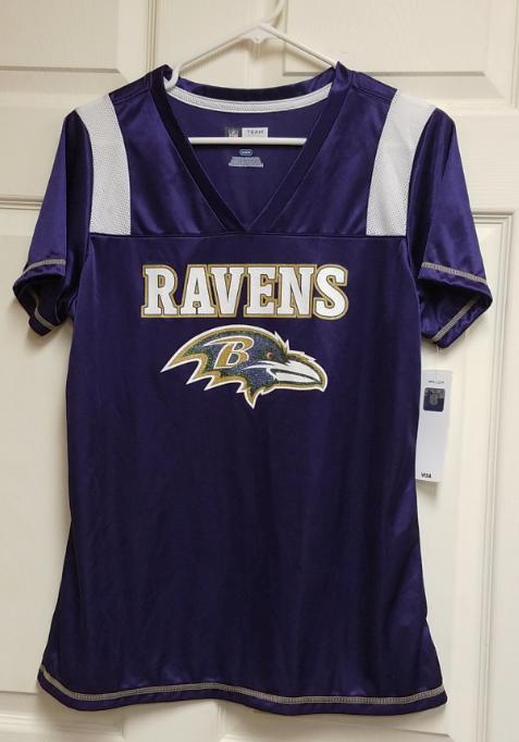 NFL Team Apparel Baltimore Ravens Purple Jersey Shirt