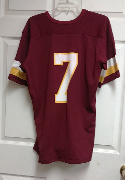 best service 1e33a cc56a Rawlings Washington Redskins Red Throwback Jersey Shirt #7 Sz L 42-44  Theismann