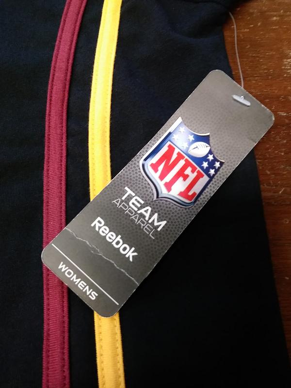 ... NWT Reebok NFL Team Apparel Women s Washington Redskins Black T-Shirt  Size ... 0fd166674