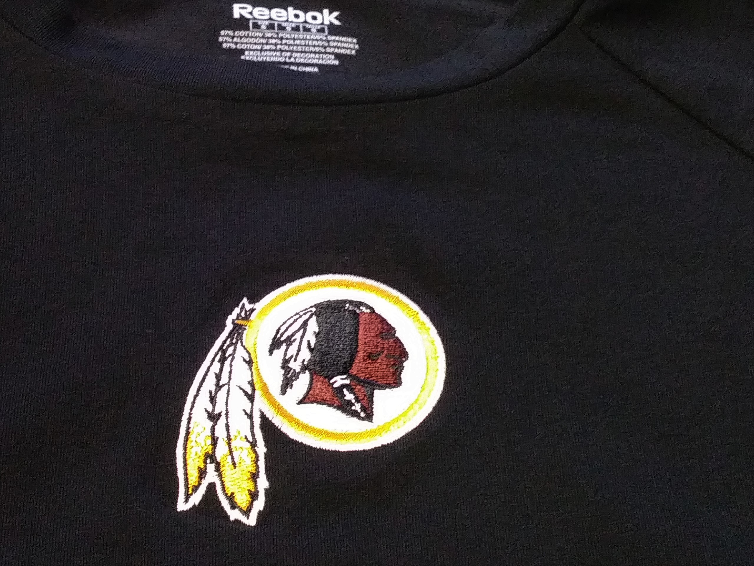 b50eb1cace4 Reebok NFL Team Apparel Women's Washington Redskins Black T-Shirt Size S  NWT | Heroes Sports Cards