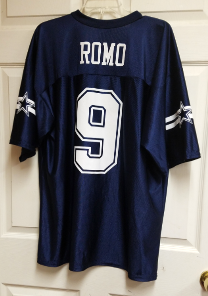 91b086922a3 NFL Team Apparel Tony Romo  9 Dallas Cowboys Jersey Shirt Size XL Football