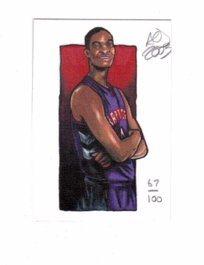 Chris Bosh 2003 AOJ Lithocard Artist Sketch 67/100 Raptors NBA