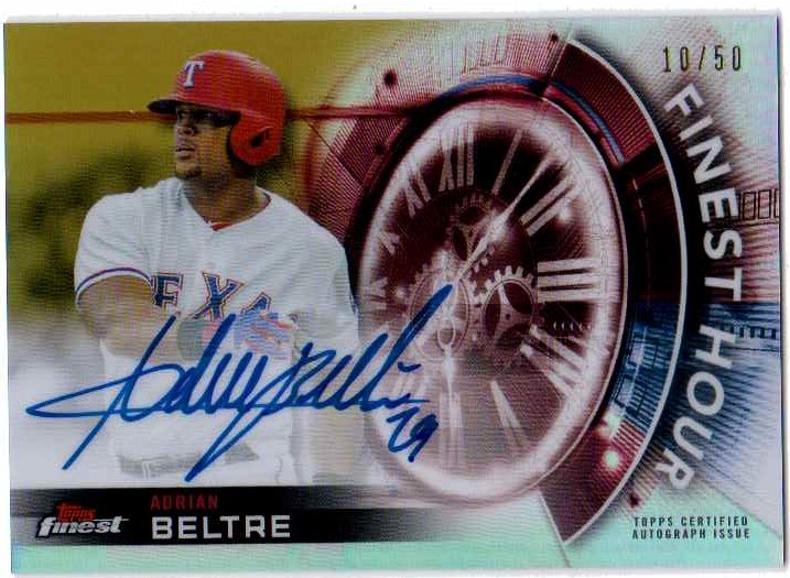 Adrian Beltre 2018 Topps Finest Hour Autograph Gold Refractor FHAABE /50 Rangers