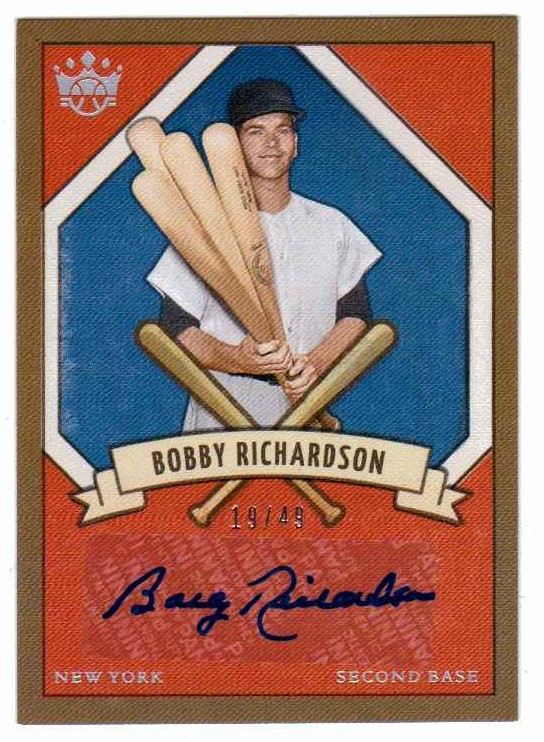 Bobby Richardson 2019 Panini Diamond Kings Holofoil Prisms Silver Autograph /49