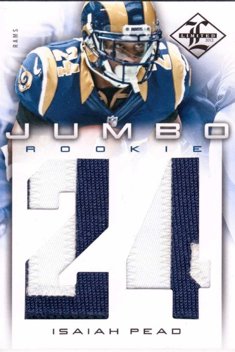 Isaiah Pead 2012 Limited Rookie Jumbo Jersey Number Prime Patch Relic #13 RC /49