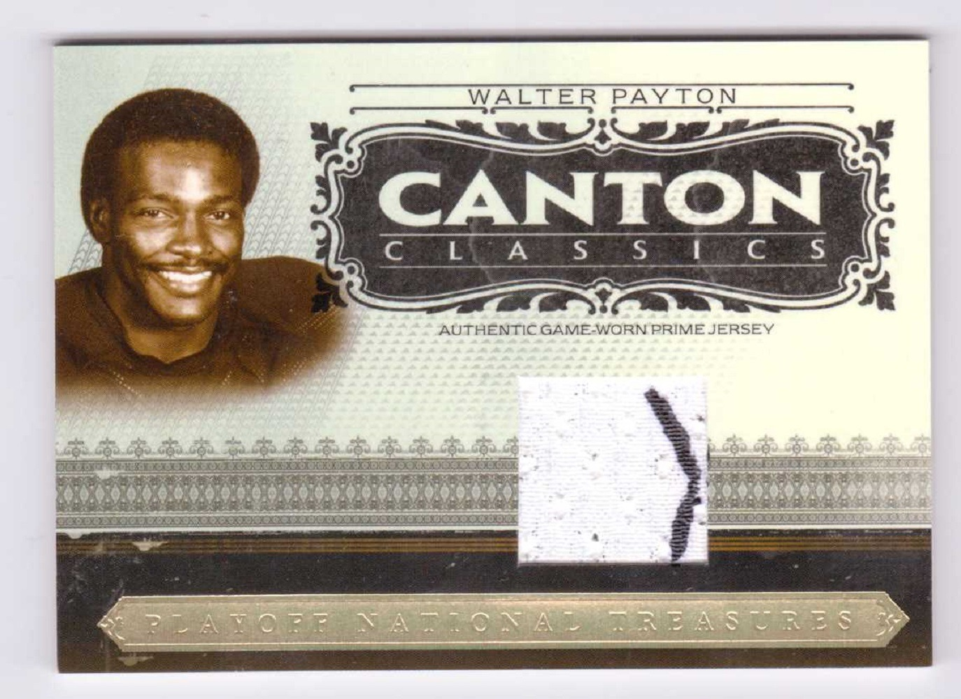Walter Payton 2006 National Treasures Canton Classics Materials Prime Patch /25