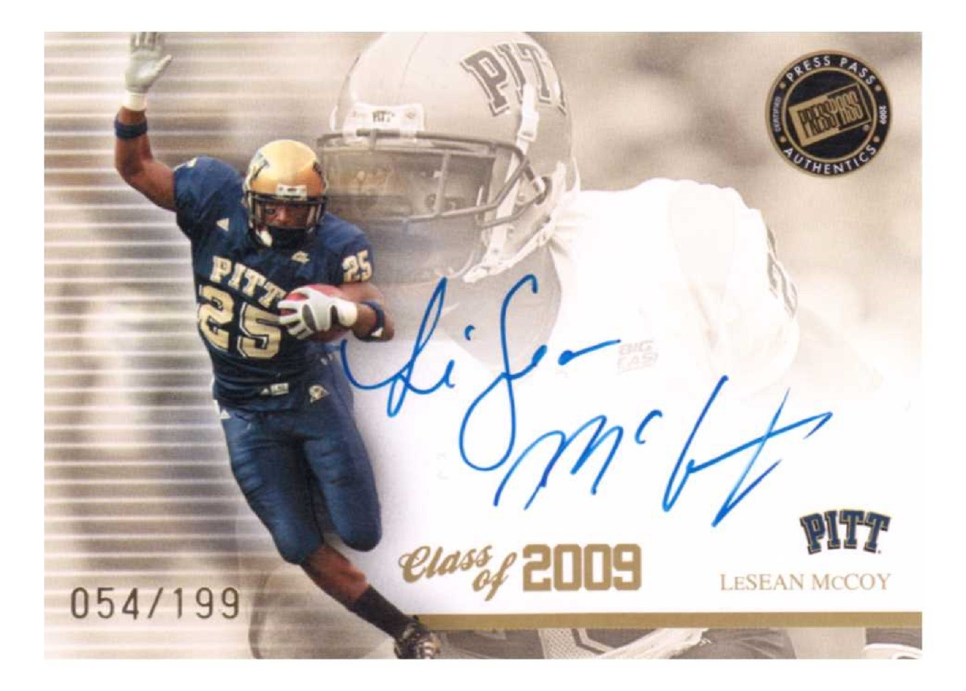 LeSean McCoy Press Pass SE Class of 2009 Autograph #CLLM Auto Rookie RC /199