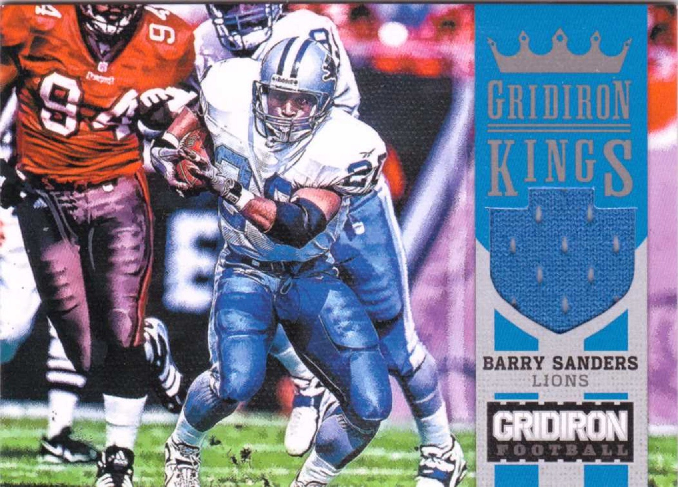 Barry Sanders 2012 Panini Gridiron Kings Jersey #7 Game Worn Relic Patch /99