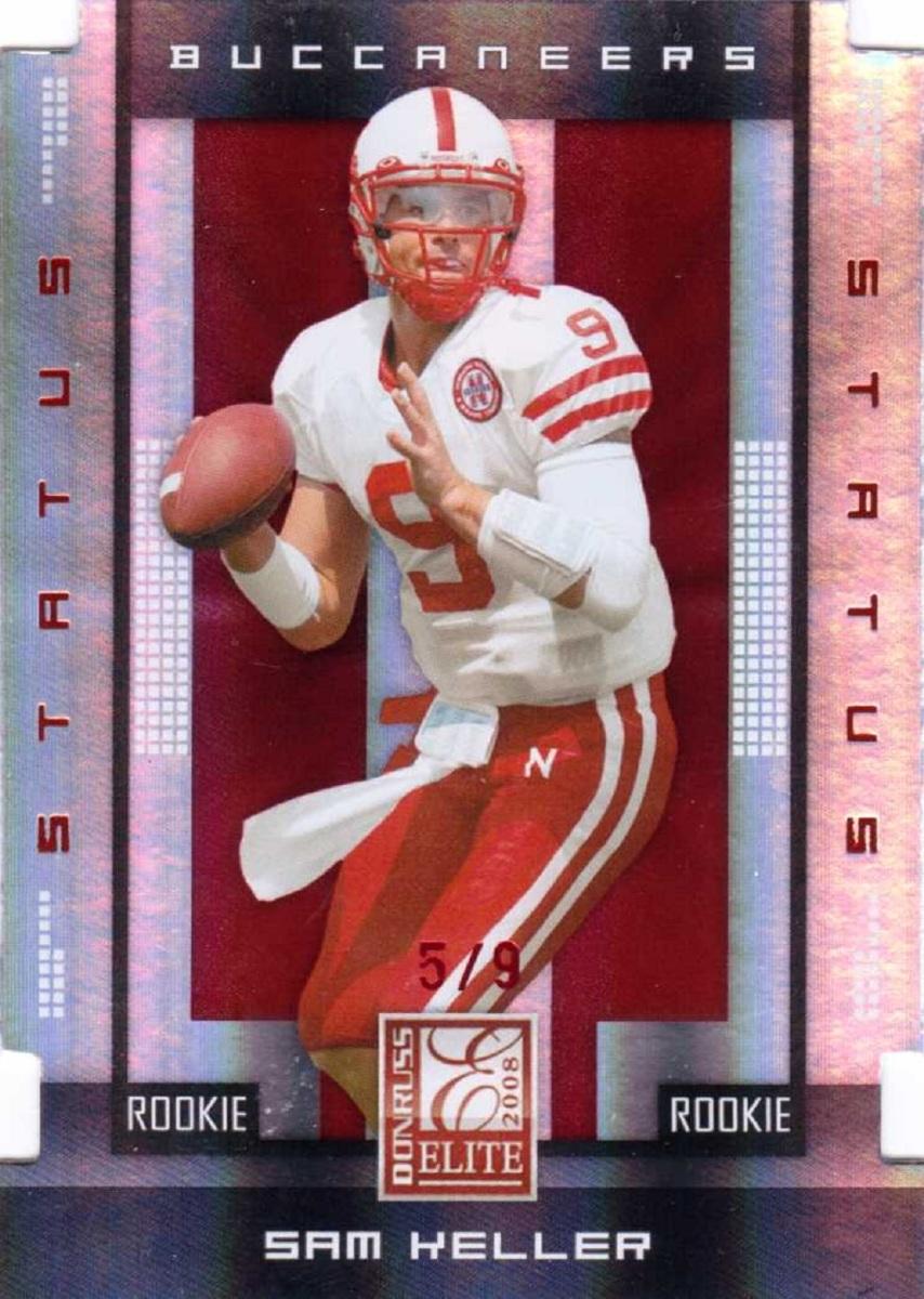 Sam Keller 2008 Donruss Elite Status Die Cut Rookie RC /9 Nebraska Cornhuskers