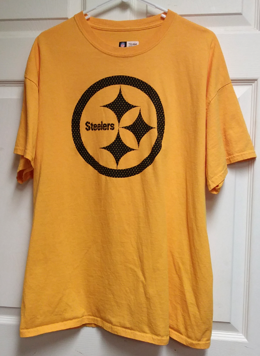 nfl team apparel pittsburgh steelers yellow graphic t