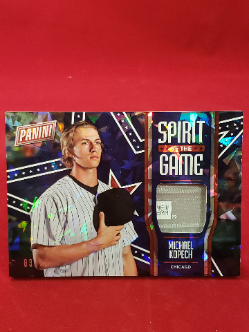 2018 Panini Father's Day Spirit of the Game Michael Kopech #MK Relic RC /25