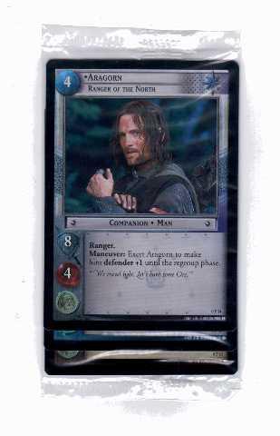 2002 LORD OF THE RINGS TCG 3 Foil Promo Card Set Aragorn/Gimli/Legolas SEALED