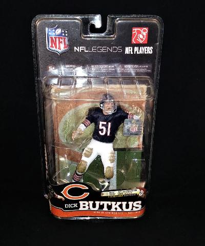 2010 Dick Butkus McFarlane NFL Legends Series 6 Chicago Bears Action Figure NIP