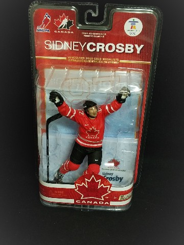 2010 McFarlane Action Figure Vancouver Olympics Canada Sidney Crosby Penguins