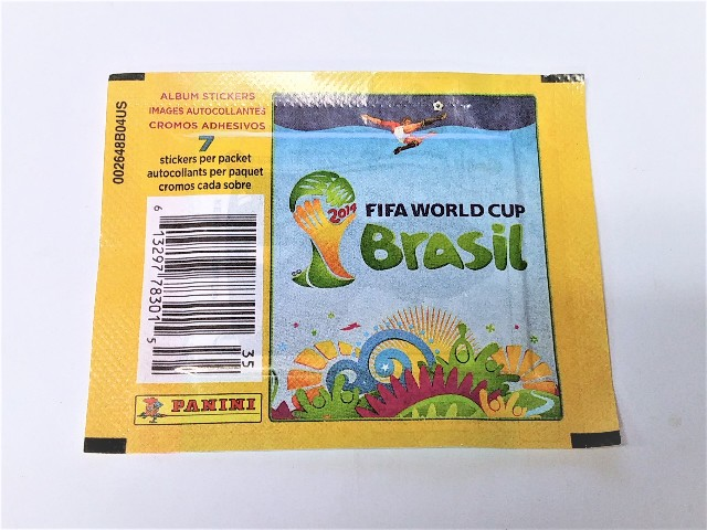 2014 Panini FIFA World Cup Brasil Soccer Sticker 10 Packs Sealed (Futbal) (Brazil)