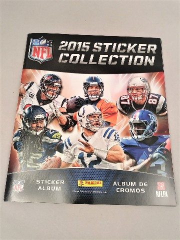 2015 Panini NFL Football Sticker Collection Album & 2 Sticker Packets (Sealed)