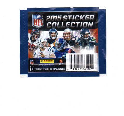 2015 Panini NFL Football Sticker Collection 7 Sticker Packets (Sealed)