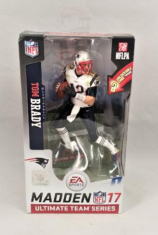 Tom Brady Variant White Jersery McFarlane Madden NFL 17 Ultimate Team Series 1