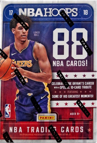 2017/18  NBA Hoops Trading Cards 11 Pack Blaster Box (Sealed)