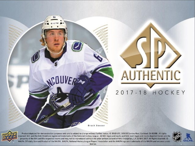 2017/18 Upper Deck UD SP Authentic Hockey Hobby 8 Box Inner CASE (Sealed) SPA