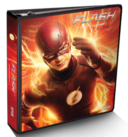 2017 Cryptozoic DC Flash Season 2 BINDER w/ 1 Exclusive Trading Card