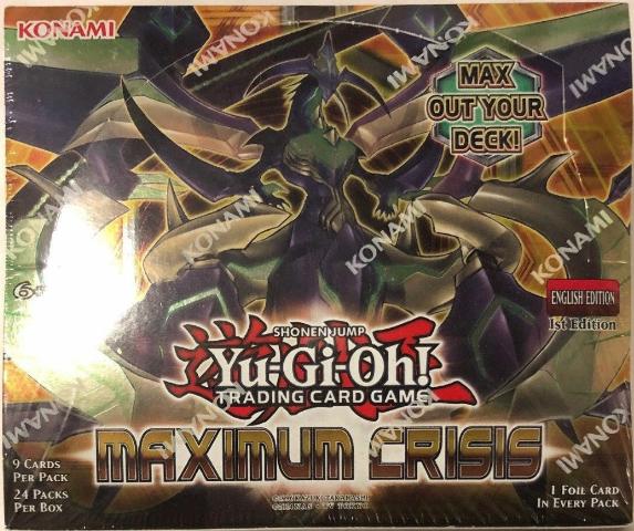 Yugioh Maximum Crisis 1st Edition Booster Box (24 packs)(Sealed)