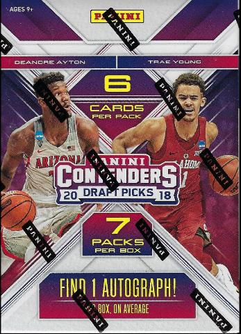 2018/19 Panini Contenders Draft Picks NCAA Blaster Box (Sealed)(7 Packs)