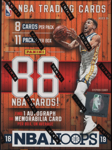 2018/19  NBA Hoops Trading Cards Blaster Box (Sealed)