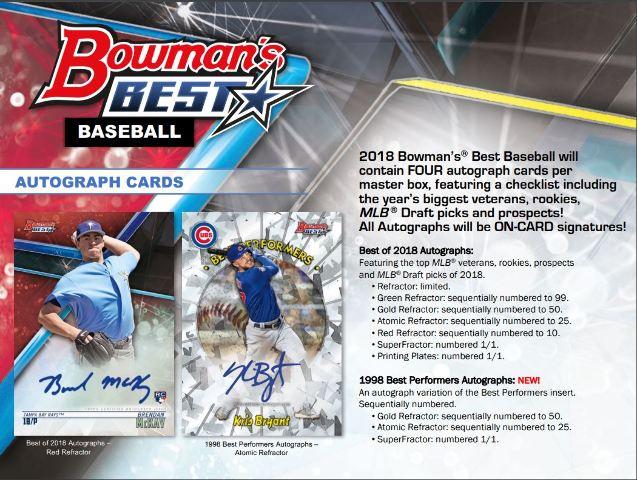 2018 Bowman's Best Baseball Hobby 8 Master Box Case (Factory Sealed)