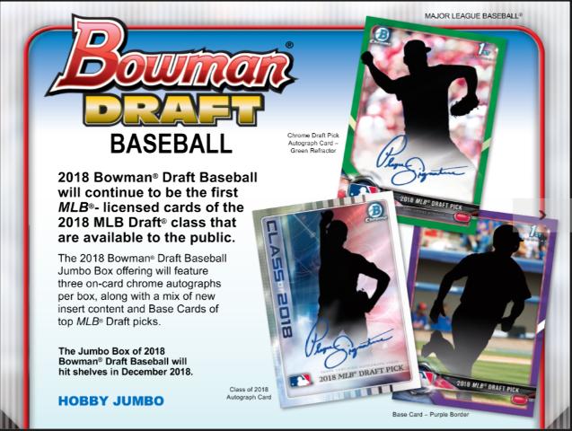 2018 Bowman Draft Picks & Prospects Baseball HTA Jumbo Hobby BOX (Sealed Random)