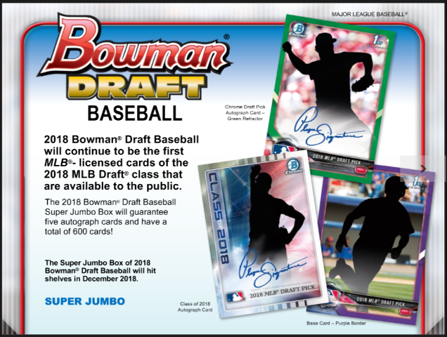 2018 Bowman Draft Picks & Prospects Baseball Super Jumbo BOX (Sealed)(Random)
