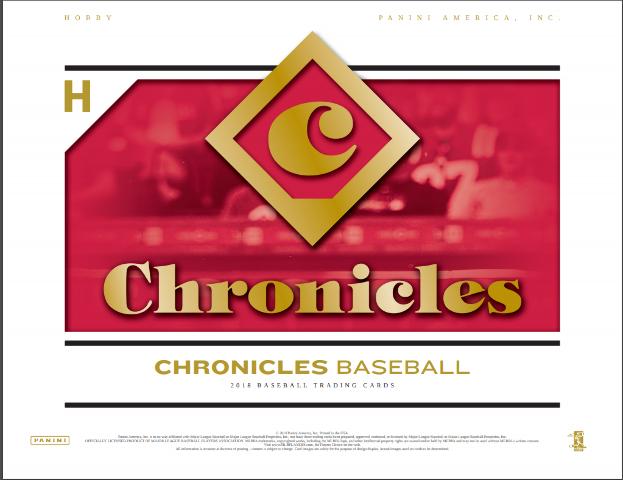 2018 Panini Chronicles Baseball Hobby 6 Pack Box (Factory Sealed)