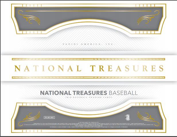 2018 Panini NT National Treasures Baseball Hobby Box (8 Cards)(Factory Sealed)