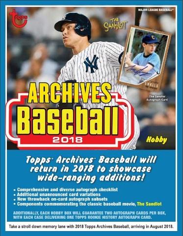 2018 Topps Archives Baseball 10 Hobby Box Case (Sealed)