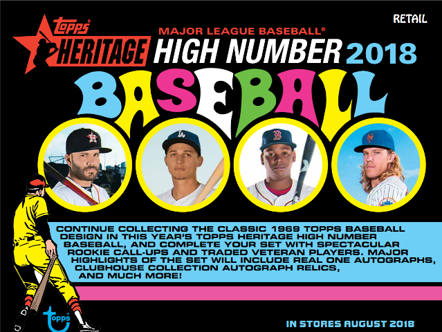 2018 Topps Heritage High Number Baseball Blaster Box Sealed