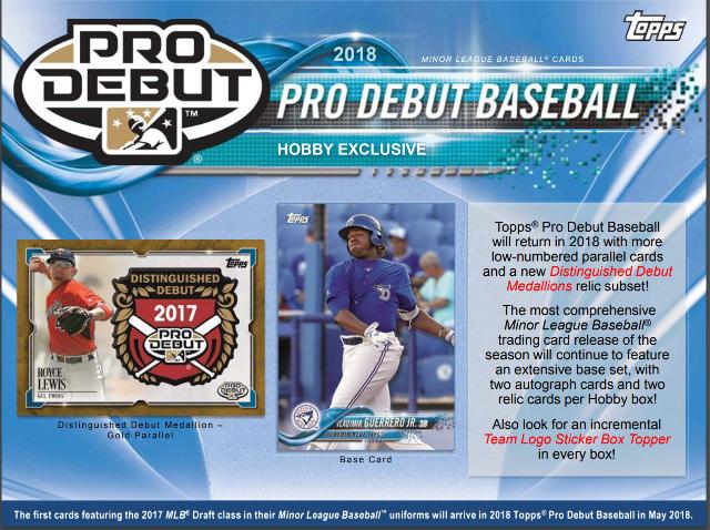 2018 Topps Pro Debut Baseball Hobby 24 Pack Box (Sealed)
