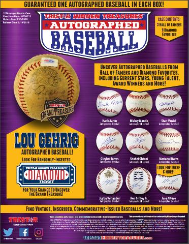 2018 Tristar Hidden Treasures Diamond Autographed Baseball Hobby Box (Sealed)