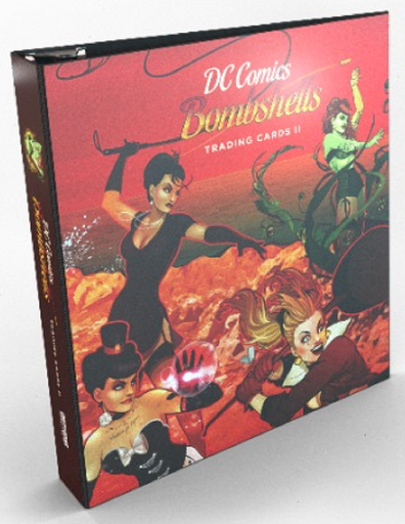 2018 Cryptozoic DC Comics Bombshells Series 2 BINDER w/ 1 Exclusive Trading Card