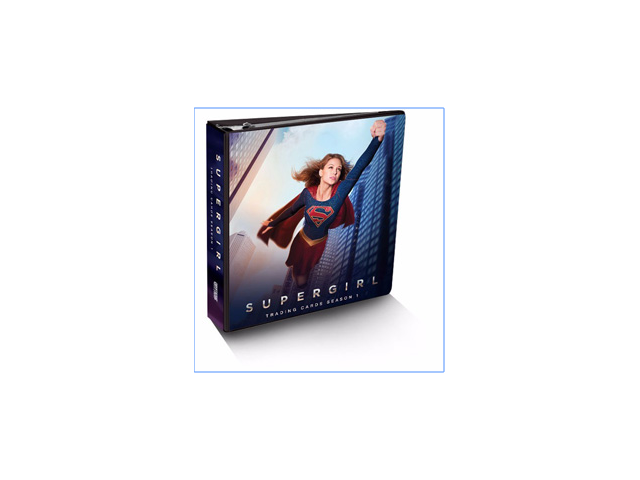 2018 Cryptozoic DC Comics Super Girl Season 1 BINDER w/ 1 Exclusive Trading Card